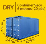Standard Container Seco 6 metros